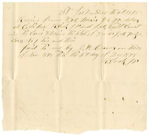 Primary view of [Receipt from R Cook, to W.A. Morris, December 4, 1878]