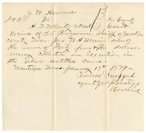Primary view of object titled '[Receipt from Thomas Langford to Levi Perryman, January 17, 1879]'.