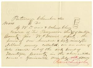 Primary view of object titled '[Receipt of Levi Perryman, February 12,1879]'.