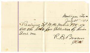 Primary view of [Receipt of W. A. Morris, July 25, 1879]