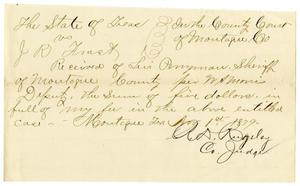 Primary view of object titled '[Receipt of Levi Perryman, November 1, 1879]'.