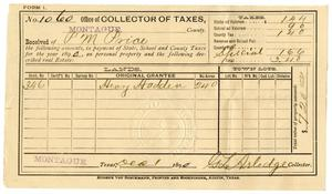 Primary view of [Receipt for taxes paid, December 1, 1890]
