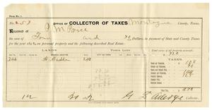 Primary view of [Receipt for taxes paid, December 20, 1892]