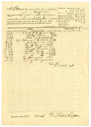 Primary view of object titled '[Receipt for taxes paid, November 11, 1896]'.