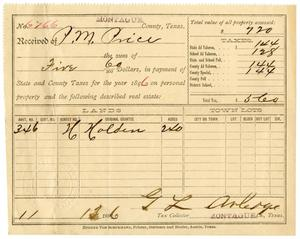 Primary view of object titled '[Receipt for property tax payment, November 13, 1896]'.