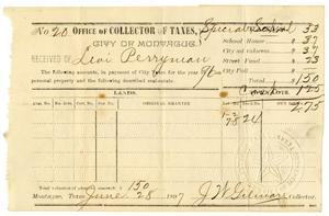 Primary view of object titled '[Receipt of Payment of Taxes, June 28, 1897]'.