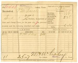 Primary view of [Receipt for payment of taxes, November 25, 1897]