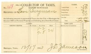 Primary view of [Receipt for taxes paid, December 17, 1900]