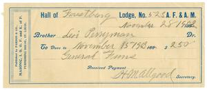 Primary view of object titled '[Receipt for dues, November 28, 1903]'.