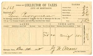 Primary view of object titled '[Receipt for taxes paid, December 1, 1902]'.