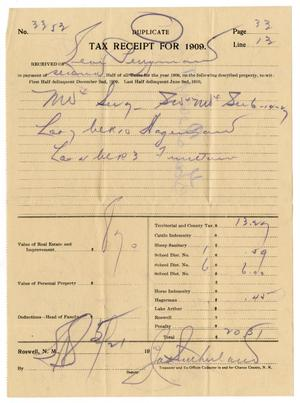 Primary view of object titled '[Receipt for taxes paid,1910]'.