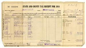 Primary view of object titled '[Receipt for taxes paid , October 28, 1914]'.