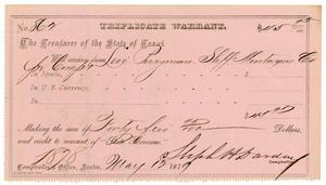 Primary view of object titled '[Triplicate Warrant, May 12, 1879]'.
