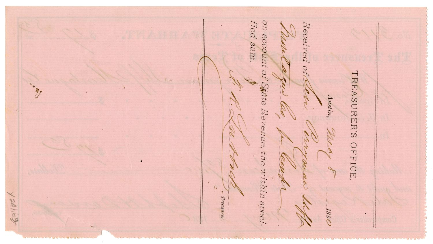 [Triplicate Warrant, May 8, 1880]                                                                                                      [Sequence #]: 2 of 2