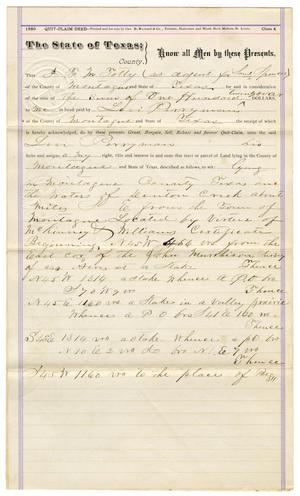 Primary view of object titled '[Legal Document from S. Spencer to Levi Perryman, April 29, 1882]'.