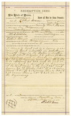 Primary view of [Redemption Deed, May 2, 1882]