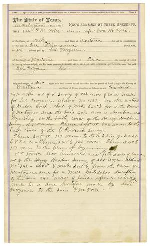 Primary view of object titled '[Quit Claim Deed, Januray 29, 1906]'.