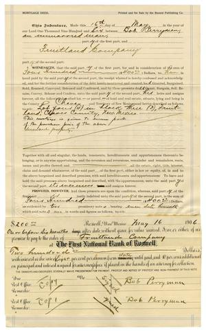 Primary view of object titled '[Mortgage Deed, May 16, 1906]'.