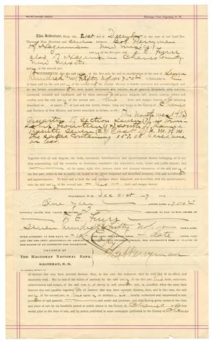 Primary view of object titled '[Mortgage Deed, December 21, 1907]'.