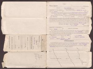 Primary view of object titled '[Warrant to appraisers, February 19, 1908]'.