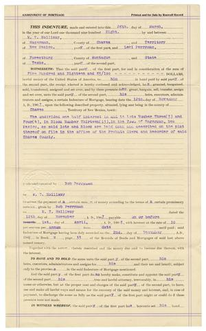 Primary view of [Assignment of mortgage, March 28, 1908]