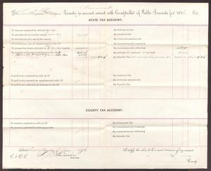 Primary view of object titled '[State Tax account for Montague County, June 29, 1876]'.