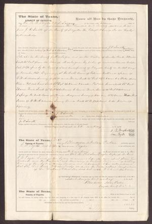 Primary view of [Warranty Deed from G. B. and L. Taylor to J. C. Smith - May 9, 1876]