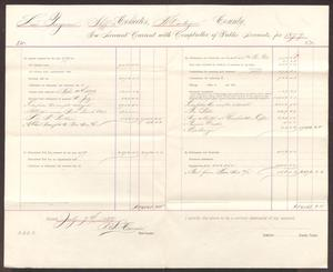 Primary view of object titled '[Statement of Montague County Taxes, July 4th, 1880]'.