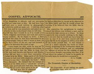 Primary view of object titled 'Gospel Advocate'.