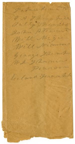 Primary view of object titled '[List of Names]'.