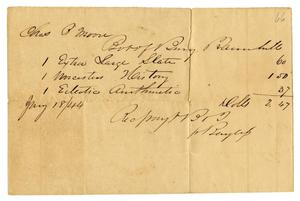 Primary view of object titled '[Receipt to Charles B. Moore, November 18, 1844]'.