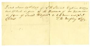 Primary view of object titled '[Receipt from R. H. Murphey, November 21, 1849]'.