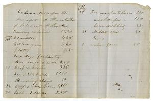 Primary view of object titled '[Expenditures for the Benefit of the State, May 29, 1861]'.