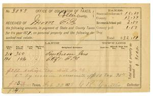 Primary view of object titled '[Tax Receipt, Febrary 22, 1878]'.