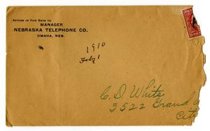 Primary view of object titled '[Envelope, February 1, 1910]'.