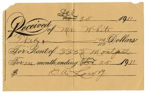 Primary view of object titled '[Receipt, December 25, 1911]'.