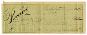 Primary view of object titled '[Receipt, February 25, 1912]'.