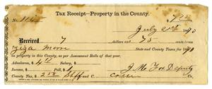 Primary view of object titled '[Tax receipt, July 21, 1870]'.