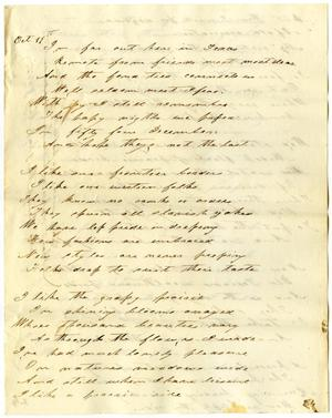 Primary view of object titled '[Poem of Texas Frontier]'.