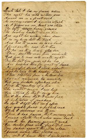 Primary view of object titled '[Poem, undated]'.