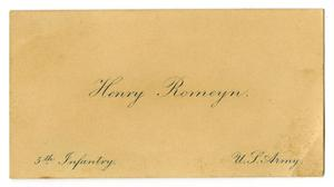Primary view of object titled '[Name card, undated]'.