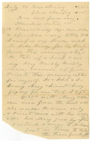 Primary view of object titled '[Personal notes, July 17]'.