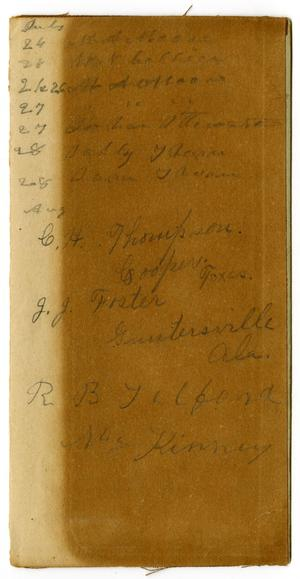 Primary view of object titled '[Personal notes, undated]'.