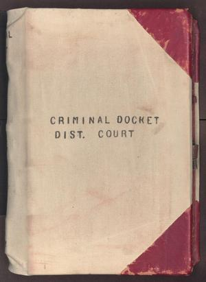 Primary view of object titled '[Criminal Docket, District Court, Cooke County, 1878-1887]'.