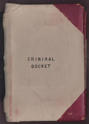 Primary view of [Criminal Docket District Court, Cooke County, 1887-1897]