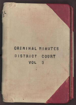 Primary view of object titled '[Criminal Minutes, County Court, Cooke County, 1899-1904]'.