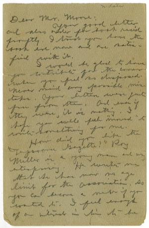 Primary view of object titled '[Letter to Charles B. Moore]'.