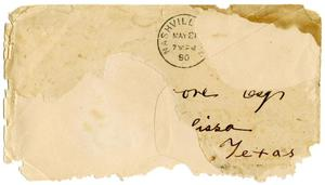 Primary view of object titled '[Envelope, May 13, 1890]'.