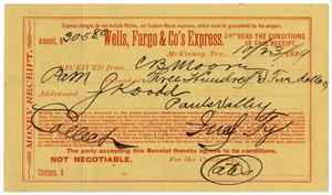 Primary view of [Money receipt, October 23, 1889]