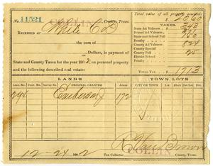 Primary view of object titled '[Receipt for state and county taxes, December 24, 1902]'.